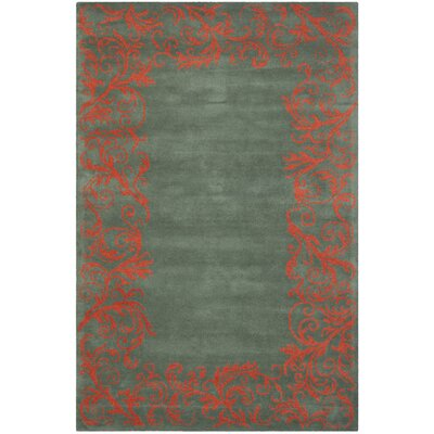 Netea Blue/Coral Area Rug Rug Size: Rectangle 6 x 9