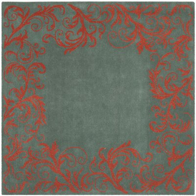 Netea Blue/Coral Area Rug Rug Size: Square 5