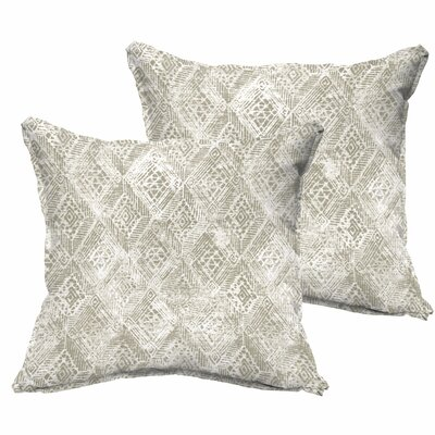 Caterina Flange Indoor/Outdoor Throw Pillow Size: 18 H x 18 W x 6 D
