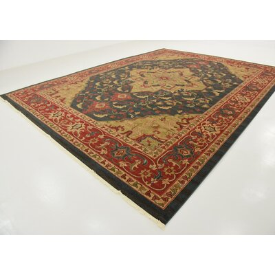 Valley Navy Blue Area Rug Rug Size: Rectangle 122 x 16