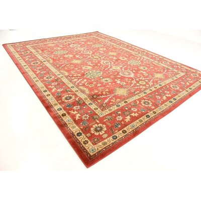 Willow Red Indoor Area Rug Rug Size: 10 x 13