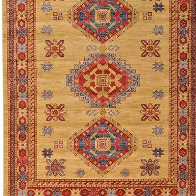 Tamoa Beige Indoor Area Rug Rug Size: 82 x 116
