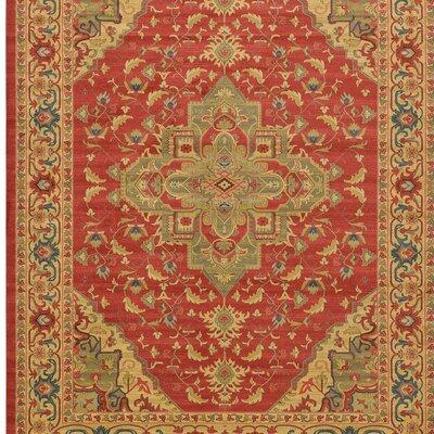 Jaida Red Oriental Area Rug