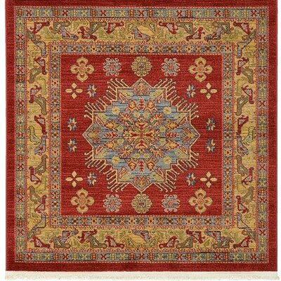 Jana Red Area Rug Rug Size: Square 41