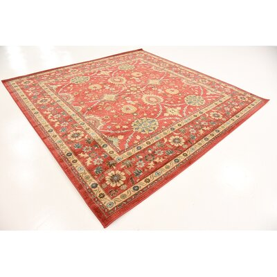 Willow Red Indoor Area Rug Rug Size: Square 8