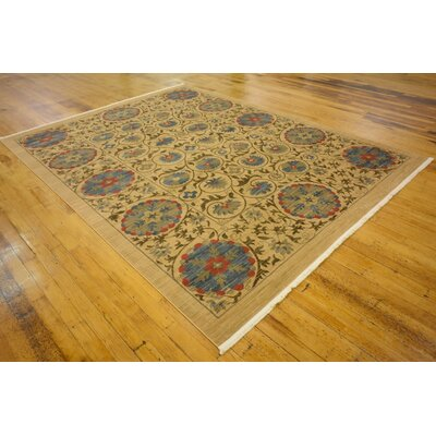 Fonciere Tan Area Rug Rug Size: Rectangle 9 x 12