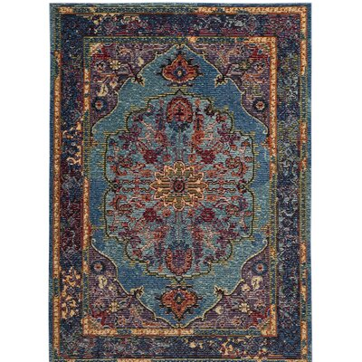 Skye Blue/Purple Area Rug Rug Size: Square 7