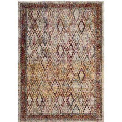Orkney Cream/Rose Area Rug Rug Size: Runner 22 x 7