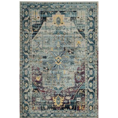 Clavier Teal/Purple Area Rug Rug Size: Rectangle 4 x 6