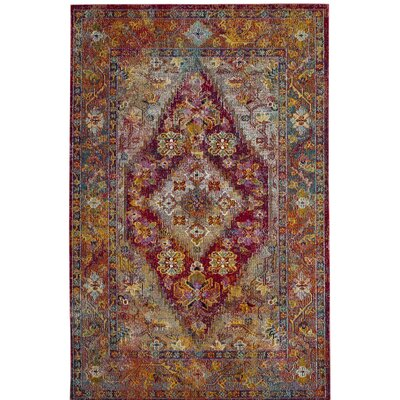 Vivace Light Blue/Fuchsia Area Rug Rug Size: Runner 22 x 7