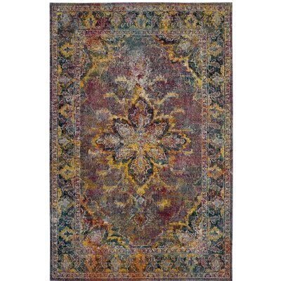 Mabel Navy/Pink Area Rug Rug Size: Rectangle 67 x 92