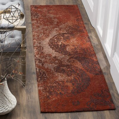 Khattabi Red/Brown Area Rug Rug Size: Runner 23 x 8