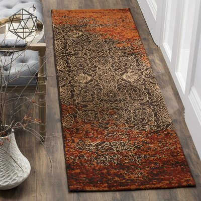 Anwick Rust/Brown Area Rug Rug Size: Round 6