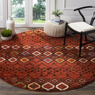 Vadim Terracotta Area Rug Rug Size: Rectangle 9 x 12