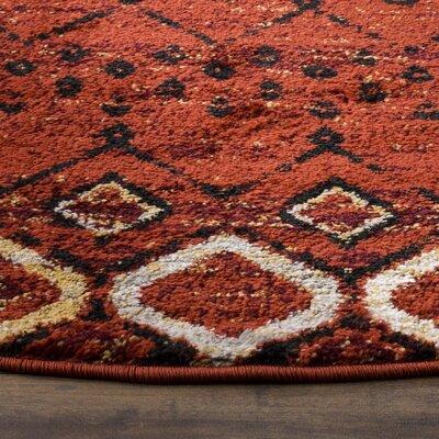 Vadim Terracotta Area Rug Rug Size: 6'7