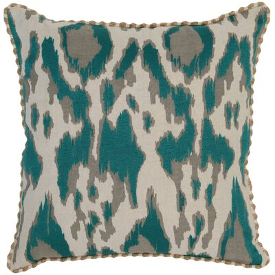 Waho Throw Pillow Color: Teal