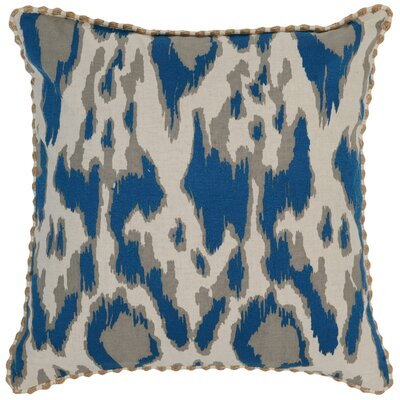 Waho Throw Pillow Color: Blue