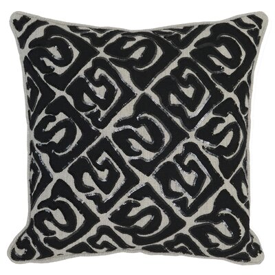 Serta Throw Pillow Color: Black