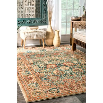 Villarreal Beige Area Rug Rug Size: Rectangle 5 x 75