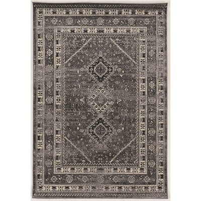 Shelie Goravan Gray Area Rug Rug Size: Rectangle 5 x 76