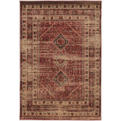 Shelie Goravan Red Area Rug Rug Size: Rectangle 2 x 3