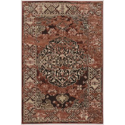 Ateao Red Area Rug Rug Size: Rectangle 8 x 10