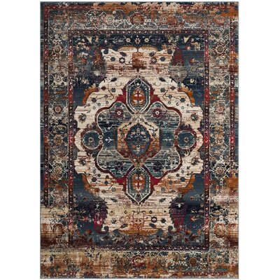 Wayne Slate Blue/Rust Area Rug Rug Size: Rectangle 4 x 6