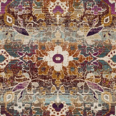Wayne Ivory/Fuchsia Area Rug Rug Size: Rectangle 9 x 12