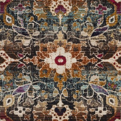 Wayne Ivory/Teal Area Rug Rug Size: Rectangle 4 x 6