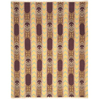 Youssef Root Brown Area Rug Rug Size: 9 x 12
