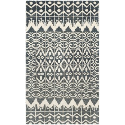 Gretta Charcoal Contemporary Area Rug Rug Size: 3 x 5