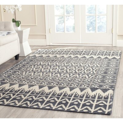 Gretta Charcoal Contemporary Area Rug Rug Size: Rectangle 2 x 3