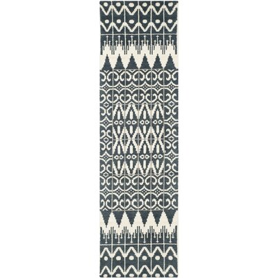 Gretta Charcoal Contemporary Area Rug Rug Size: Runner 23 x 8