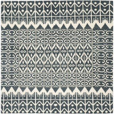 Gretta Charcoal Contemporary Area Rug Rug Size: Square 7