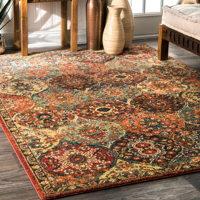 Winters Rust Area Rug Rug Size: 4 x 6