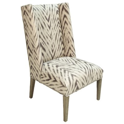 Clay Amir Cumin Wingback Chair Body Fabric: White/Gray