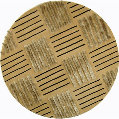 Dorthy Gold Area Rug Rug Size: Round 6