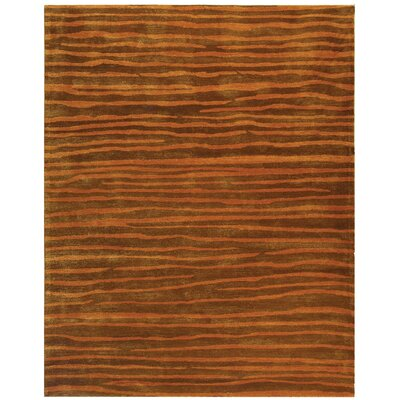 Dorthy Brown/Rust Area Rug Rug Size: 5 x 8