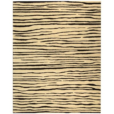 Dorthy Ivory/Black Area Rug Rug Size: Rectangle 36 x 56