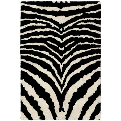 Dorthy Wool Ivory/Black Area Rug Rug Size: Rectangle 5 x 8