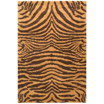 Dorthy Brown/Gold Area Rug Rug Size: 36 x 56