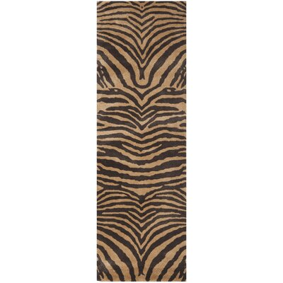 Dorthy Brown/Gold Area Rug Rug Size: Runner 26 x 12