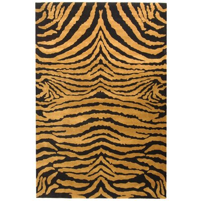 Dorthy Black/Brown Area Rug Rug Size: 96 x 136