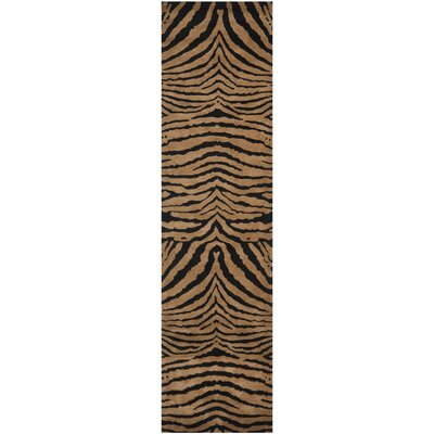 Argana Black/Brown Area Rug Rug Size: Runner 26 x 8