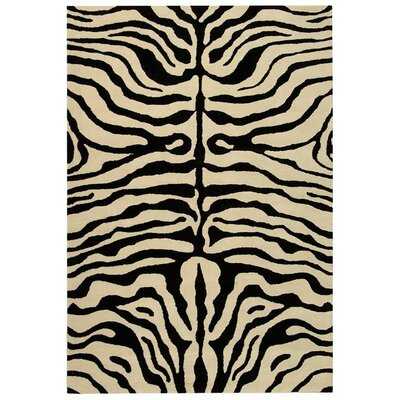 Dorthy Black/Ivory Area Rug Rug Size: Rectangle 36 x 56