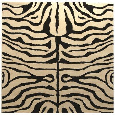 Dorthy Black/Ivory Area Rug Rug Size: Square 6