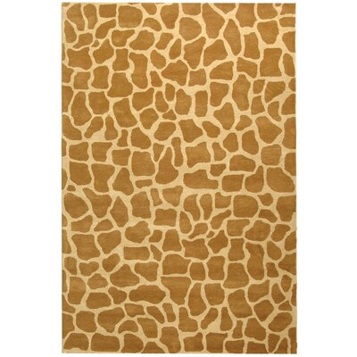 Dorthy Beige & Brown Area Rug Rug Size: Rectangle 36 x 56