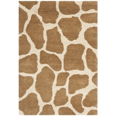 Dorthy Beige & Brown Area Rug Rug Size: Rectangle 2 x 3