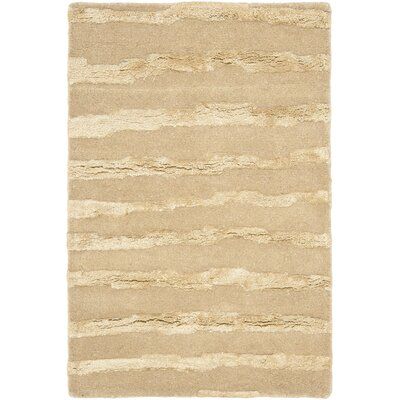 Dorthy Hand-Tufted Beige Area Rug Rug Size: Rectangle 36 x 56
