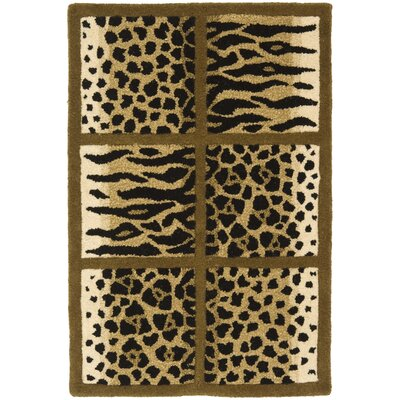 Dorthy Wool Beige/Brown Area Rug Rug Size: 76 x 96